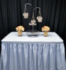13.5' Table Skirt LIGHT BLUE (pleat)