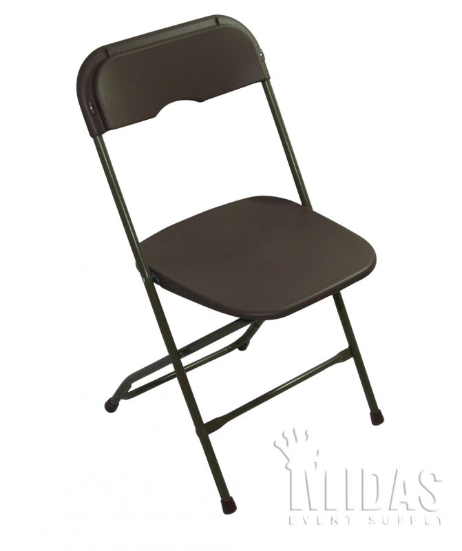 Chairs Champ Plastic Steel Folding Champ Brown Event