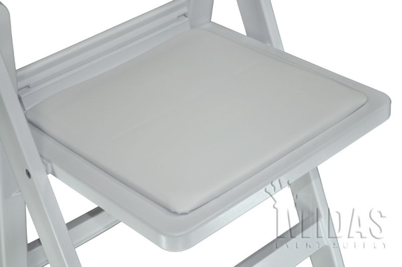 Seat Pad For REVOLUTION Resin Chair WHITE