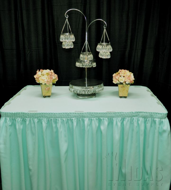 13 5 Table Skirt Mint Pleat