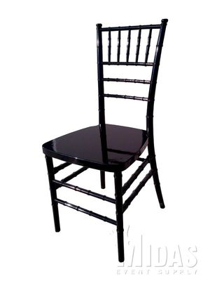 LEGACY Chiavari (Chivari) Ballroom resin chair BLACK