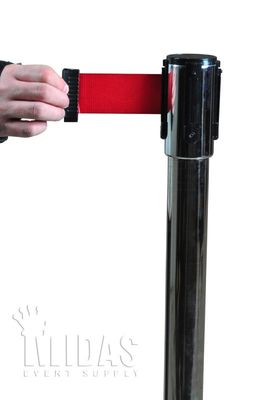 STANCHION retractable belt RED (HEAD ONLY)